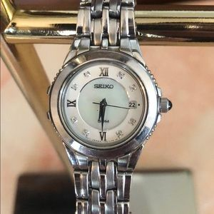 Seiko Watch-Mother of Pearl Face/Diamond Accents